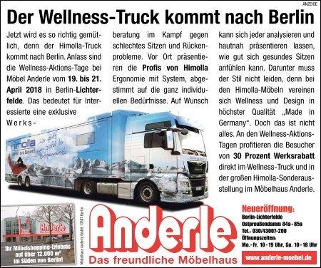 Der Wellness-Truck kommt nach Berlin