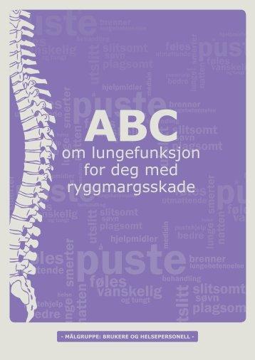ABC om lungefunksjon for deg med ryggmargsskade