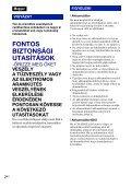 Sony DSC-W270 - DSC-W270 Consignes d'utilisation Hongrois - Page 2