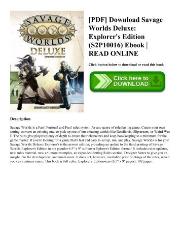 Pdf download guinness world records 2018 gamers edition the pdf download savage worlds deluxe explorers edition s2p10016 ebook read online fandeluxe Gallery
