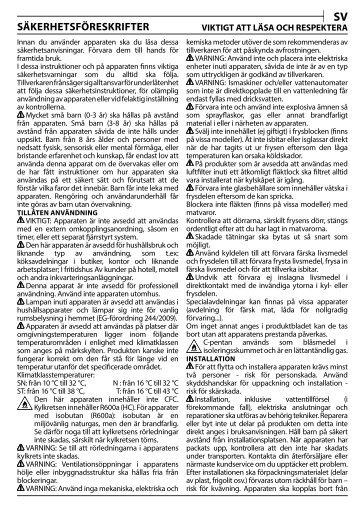 KitchenAid Z A1/I - Z A1/I SV (F093257) Health and safety