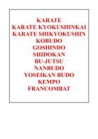 catalogue sabretooth karaté+yoseikan budo+ arts martiaux affinitaires saison 2017-2018 - Page 2