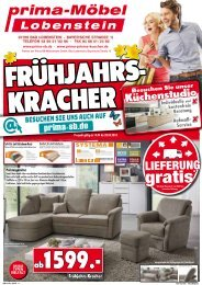 Frühjahrs-Kracher bei prima-Möbel in 07356 Bad Lobenstein