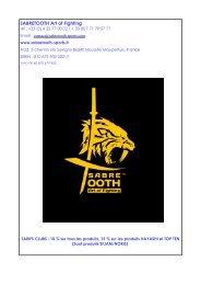 catalogue sabretooth karaté+yoseikan budo+ arts martiaux affinitaires saison 2017-2018