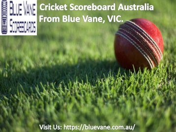 Buy CricketScoreboard Australia from Blue Vane, Victoria, Australia