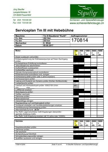 Service 250h - 09.08.2017