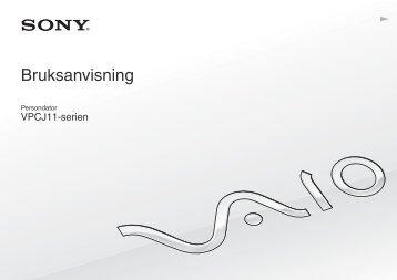 Sony VPCJ11M1E - VPCJ11M1E Mode d'emploi Suédois
