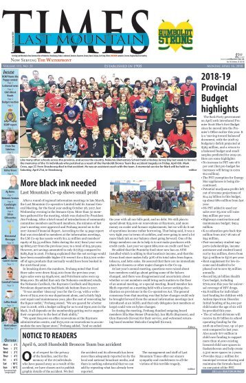 Last Mountain Times April 16 2018