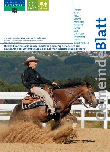 Dünser Quarter Horse Ranch - Dünser Quarter Horses