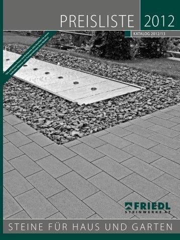 PREISLISTE - FRIEDL