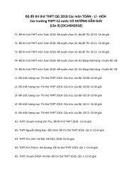 Bộ đề thi thử THPT QG 2018 Các môn TOÁN - LÍ - HÓA Các trường THPT Cả nước CÓ HƯỚNG DẪN GIẢI (Lần 9) [DC14042018]