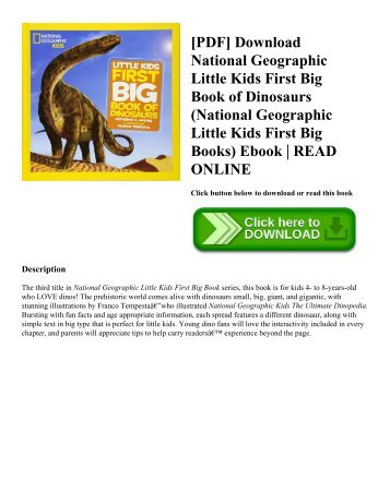 [PDF] Download National Geographic Little Kids First Big Book of Dinosaurs (National Geographic Little Kids First Big Books) Ebook  READ ONLINE
