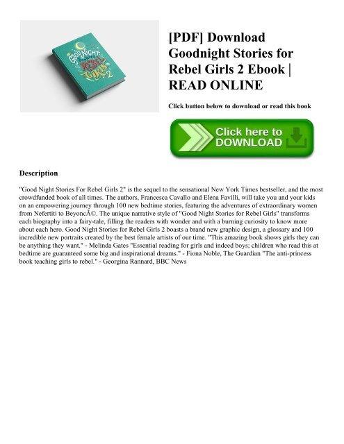 PDF] Download Goodnight Stories for Rebel Girls 2 Ebook READ ONLINE