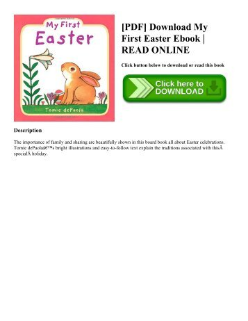 [PDF] Download My First Easter Ebook  READ ONLINE