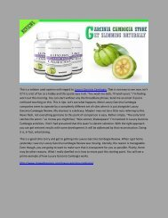 Luxury Garcinia Cambogia - Awesome Result For Weight Loss