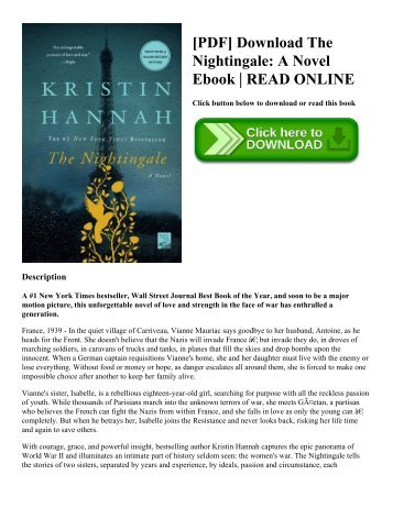 [PDF] Download The Nightingale A Novel Ebook  READ ONLINE