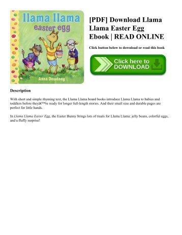 [PDF] Download Llama Llama Easter Egg Ebook  READ ONLINE