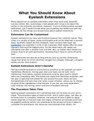 What You Should Know About Eyelash Extensions