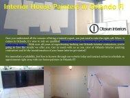 Interior House Painters in Orlando Fl