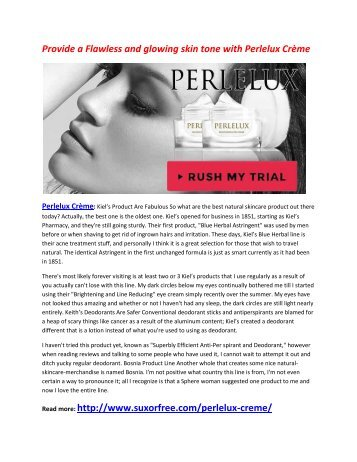 Increase Your Skin Quality with Perlelux Crème
