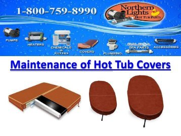 Maintenance of Hot Tub Covers