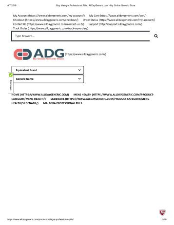 Buy Malegra Professional Pills _ AllDayGeneric.com - My Online Generic Store