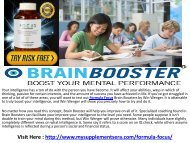 Formula Focus : A Pill That Can Increase Your Intelligence