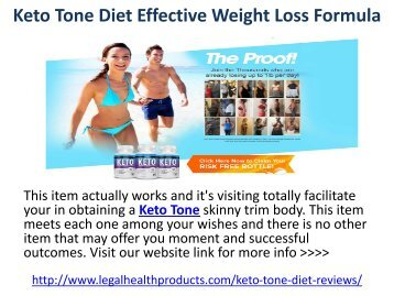 Keto Tone Diet Effective Weight Loss Formula