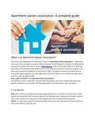 Apartment owners association (1)