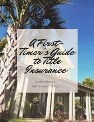 A First-Timer's Guide to Title Insurance
