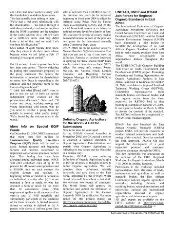 2006 Calendar - Independent Organic Inspectors Association