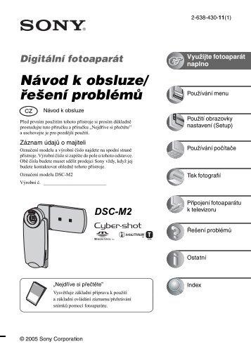 Sony DSC-M2 - DSC-M2 Consignes d'utilisation Tchèque