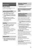 Sony CDX-G1201U - CDX-G1201U Consignes d'utilisation Danois - Page 7