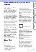 Sony DSC-W380 - DSC-W380 Consignes d'utilisation Espagnol - Page 3