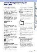 Sony DSC-W380 - DSC-W380 Consignes d'utilisation Danois - Page 3
