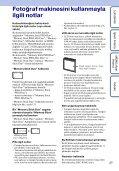 Sony DSC-W380 - DSC-W380 Consignes d'utilisation Turc - Page 3