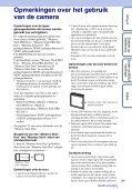 Sony DSC-W380 - DSC-W380 Consignes d'utilisation Néerlandais - Page 3