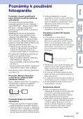 Sony DSC-W380 - DSC-W380 Guide pratique Tchèque - Page 3