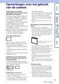 Sony DSC-W380 - DSC-W380 Guide pratique Néerlandais - Page 3