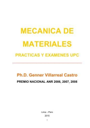 Libro Mecánica de Materiales (Prácticas y Exámenes UPC)