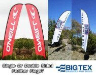 Choosing a Single or Double Sided Feather Flag