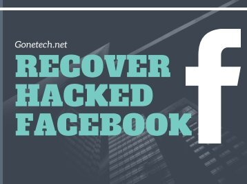 Want to Do Recovery of Your Hacked Facebook Account - 2018? You Can't Miss!!!