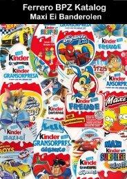 Ferrero BPZ Katalog Maxi Ei Banderolen