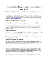 Four effective home remedies for whitening your teeth