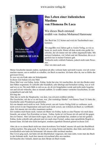 """""""Das Leben einer italienischen Muslima"""" - wie das Buch entstand"""