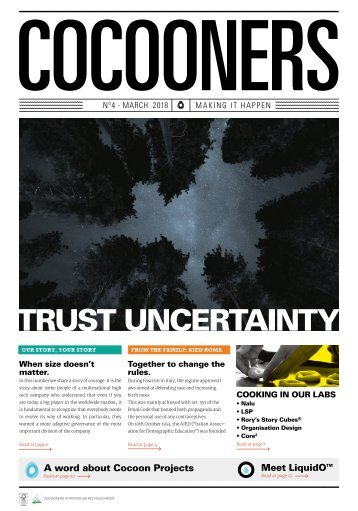 COCOONERS - Making It Happen - No 4, March 2018