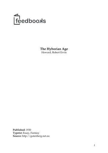 Howard - The Hyborian Age