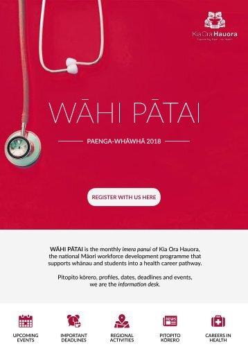 Wāhi Pātai April 2018