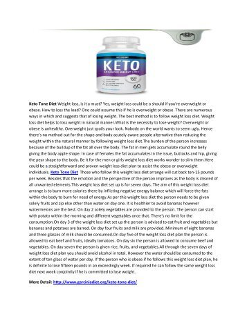 Keto Tone Diet - 100% Natural Weight Loss Formula