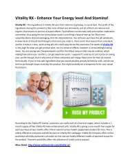 Vitality RX - Enjoy Great Sexual Energy And Powers!